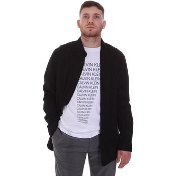 Odjeća Muškarci  Košulje dugih rukava Calvin Klein Jeans K10K105993 Crno