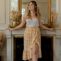 Odjeća Žene  Suknje Céleste TOURTERELLE Žuta / Bijela