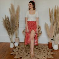 Odjeća Žene  Suknje Céleste TOURTERELLE Red / Multicolour