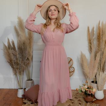 Odjeća Žene  Duge haljine Céleste COLOMBE Ružičasta