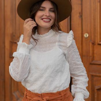Odjeća Žene  Topovi i bluze Céleste HIRONDELLE Bijela