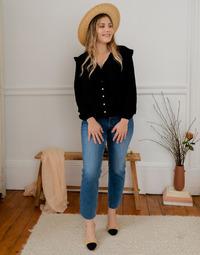 Odjeća Žene  Topovi i bluze Céleste ZEPHYR Crna
