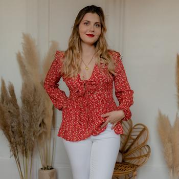 Odjeća Žene  Topovi i bluze Céleste ROSSIGNOL Red / Multicolour