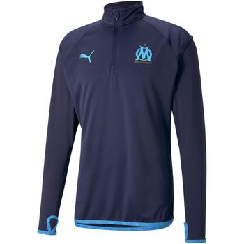 Odjeća Muškarci  Gornji dijelovi trenirke Puma Sweat OM Warmup bleu foncé/bleu azur