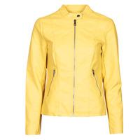Odjeća Žene  Kožne i sintetičke jakne Only ONLMELISA Žuta