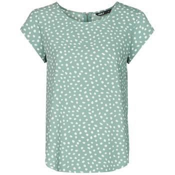 Odjeća Žene  Topovi i bluze Only ONLVIC Zelena / Bijela