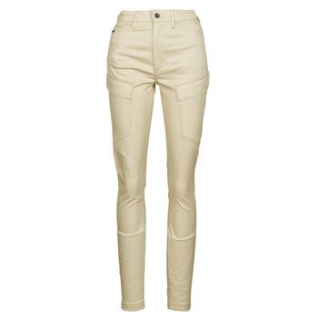 Odjeća Žene  Cargo hlače G-Star Raw HIGH G-SHAPE CARGO SKINNY PANT WMN Bež
