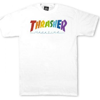 Odjeća Muškarci  Majice kratkih rukava Thrasher T-shirt rainbow mag ss Bijela