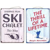 Dom Slike i platna Signes Grimalt Zidna ploča za skijanje SET 2 U Multicolor