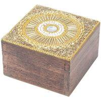 Dom Sanduci i kovčezi Signes Grimalt Kvadratna kutija za nakit Dorado