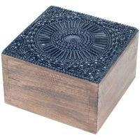 Dom Košare i kutije Signes Grimalt Kvadratna kutija za nakit Negro