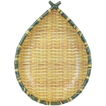 Dom Dekorativni tanjuri  Signes Grimalt Posuda za voće u ladici od bambusa Amarillo