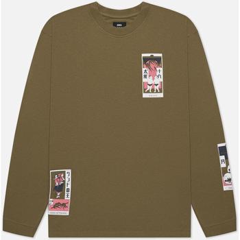 Odjeća Muškarci  Majice / Polo majice Edwin T-shirt manches longues  Tarot Deck II vert olive