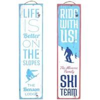 Dom Slike i platna Signes Grimalt Zid Ploča Ski 2. Rujna U Azul