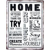 Dom Slike i platna Signes Grimalt Početna Ploča Na Zid Multicolor