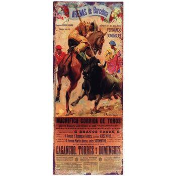 Dom Slike i platna Signes Grimalt Zidna ploča za borbu s bikovima Multicolor