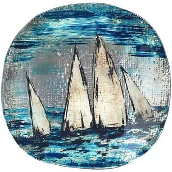 Dom Dekorativni tanjuri  Signes Grimalt Čamci okrugle ploče Azul