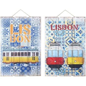 Dom Slike i platna Signes Grimalt Lisabonska zidna dekoracija 2 Dif. Multicolor