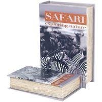 Dom Sanduci i kovčezi Signes Grimalt Zebra Safari 2U Kutije Knjiga Multicolor
