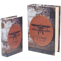 Dom Sanduci i kovčezi Signes Grimalt 2U Retro kutije za knjige za avione Multicolor