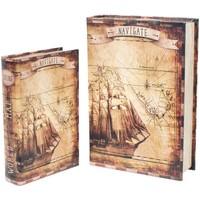 Dom Sanduci i kovčezi Signes Grimalt Barco kutije za knjige SET 2U Marrón