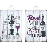 Dom Slike i platna Signes Grimalt Zidna ploča 2 vina Multicolor