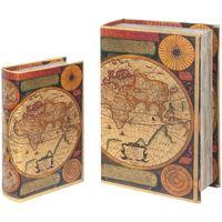 Dom Sanduci i kovčezi Signes Grimalt Svjetske kutije za knjige SET 2U Multicolor
