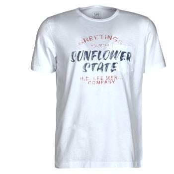 Odjeća Muškarci  Majice kratkih rukava Lee SS POSTER TEE Bijela