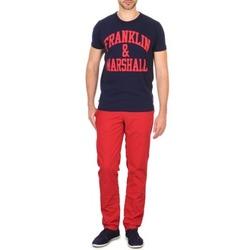 Odjeća Muškarci  Chino hlačei hlače mrkva kroja Franklin & Marshall GLADSTONE Red