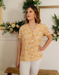 Odjeća Žene  Topovi i bluze Céleste MESANGE Žuta / Bijela