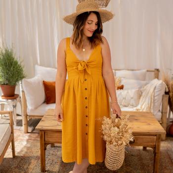 Odjeća Žene  Duge haljine Céleste CAMOMILLE Žuta