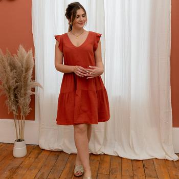 Odjeća Žene  Kratke haljine Céleste DAHLIA Terracotta