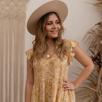 Odjeća Žene  Kratke haljine Céleste DAHLIA Žuta / Bijela