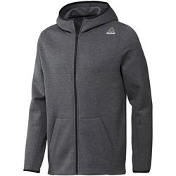 Odjeća Muškarci  Sportske majice Reebok Sport Fitness Qc Dk Fz Hood Siva