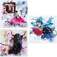 Dom Slike i platna Signes Grimalt Ploča SET 3 jedinice Multicolor