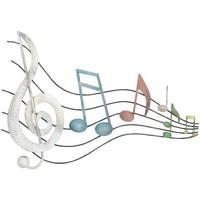 Dom Slike i platna Signes Grimalt Zidni ukras glazbenih nota Multicolor
