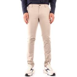 Odjeća Muškarci  Chino hlačei hlače mrkva kroja Powell ME303 WHITE