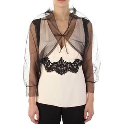 Odjeća Žene  Majice s naramenicama i majice bez rukava Anna Molinari 24222 Nero