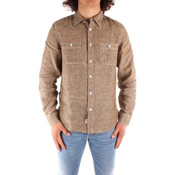 Odjeća Muškarci  Košulje dugih rukava Blauer 21SBLUS01221 BROWN
