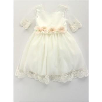 Odjeća Djevojčica Kratke haljine Bella Brilli BB402157 Avorio