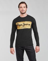 Odjeća Muškarci  Majice dugih rukava Pepe jeans CHARING LS Crna