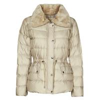 Odjeća Žene  Pernate jakne MICHAEL Michael Kors ECO FX FUR CLLR PUFFER Ivory