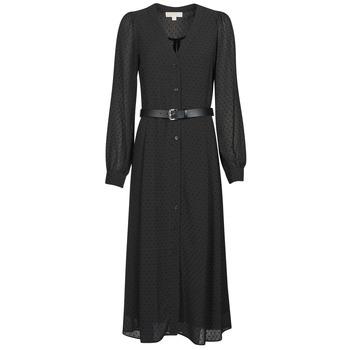 Odjeća Žene  Duge haljine MICHAEL Michael Kors CRINKLE DOTS KATE DRS Crna