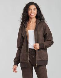 Odjeća Žene  Sportske majice MICHAEL Michael Kors UNISEX MK DOT ZIP HOODIE Smeđa
