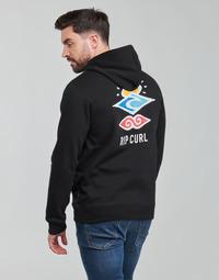 Odjeća Muškarci  Sportske majice Rip Curl SEARCH ICON HOOD Crna