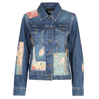 Odjeća Žene  Traper jakne Desigual JAPO PATCH Blue
