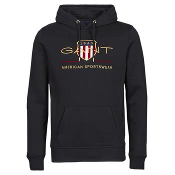 Odjeća Muškarci  Sportske majice Gant ARCHIVE SHIELD HOODIE Crna