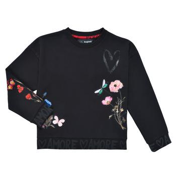 Odjeća Djevojčica Sportske majice Desigual ALICIA Crna