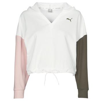Odjeća Žene  Sportske majice Puma MODERN SPORT HOODIE Bijela / Multicolour