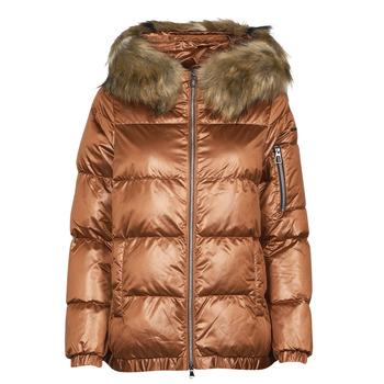 Odjeća Žene  Pernate jakne Geox BAKSIE Smeđa / Lesklá
